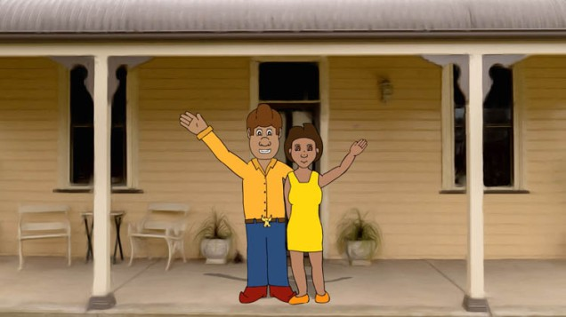 Still from the new Wiradjuri Language Useful Words and Phrases animation
