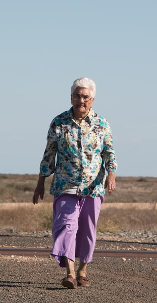 Aunty Joyce walking