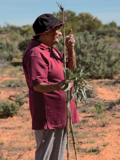 Aunty Joyce at Menindee with Bamboo