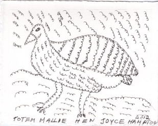 totem-mallee-fowl-drawing-by-joyce-hampton-2012
